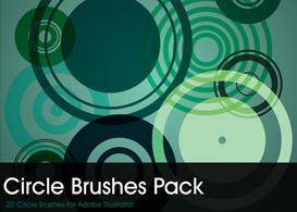 Circles Brush Pack  Free Vectors