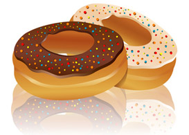 Delicious Doughnut  Free Vectors
