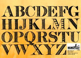 Vector Typeface : RPVS  Free Vectors