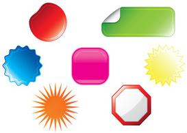 Stickers  Free Vectors